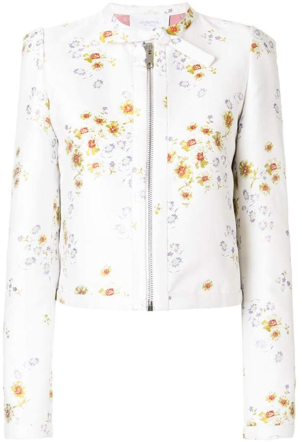 Giambattista Valli floral-brocade jacket