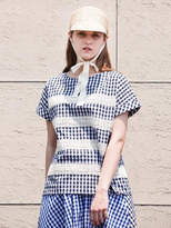Lace Gingham Top