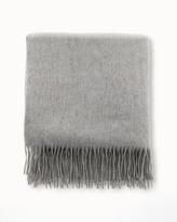 Soma Intimates Cashmere Throw Blanket Heather Grey