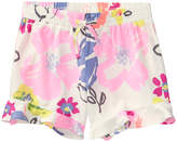 Crazy 8 Ivory Floral Woven Shorts - Toddler & Girls