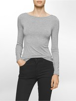 Calvin Klein Liquid Jersey Boatneck Long Sleeve Shirt