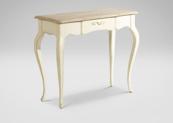 Ethan Allen French White Console Table