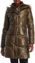 Andrew Marc Faux Fur Hood Puffer Jacket