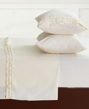 LILY&DAVID Lily & David Bella Shabby Chic Easy Care Ruffled Microfiber Bed Sheet Set, King Bedding
