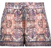 Joie Nami Printed Silk Crepe De Chine Shorts