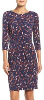 Adrianna Papell Print Stretch Sheath Dress (Regular & Petite)