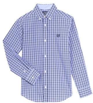 Chaps Long Sleeve Tattersal Woven Shirt (Little Boy & Big Boy)