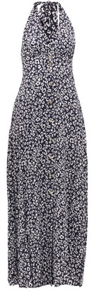 Heidi Klein Tanzania Halterneck Leopard-print Maxi Dress - Leopard