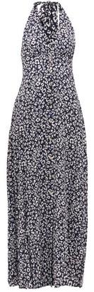 Heidi Klein Tanzania Halterneck Leopard-print Maxi Dress - Womens - Leopard