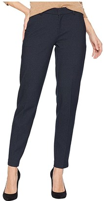 Liverpool Kelsey Slim Leg Trousers in Birds Eye Print Ponte Knit (Navy) Women's Casual Pants