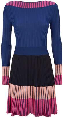 Pinko Colour-Block Jacquard Dress