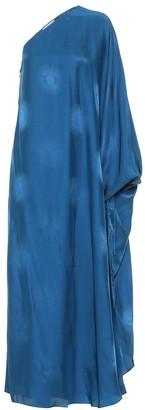 Stella McCartney Finley satin jacquard maxi dress