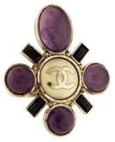 Chanel Resin, Crystal & Enamel Cocktail Ring