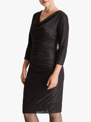 Fenn Wright Manson Evette Textured Cowl Neck Dress, Black