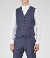 Reiss Reiss Harry W - Modern Fit Waistcoat In Blue, Mens