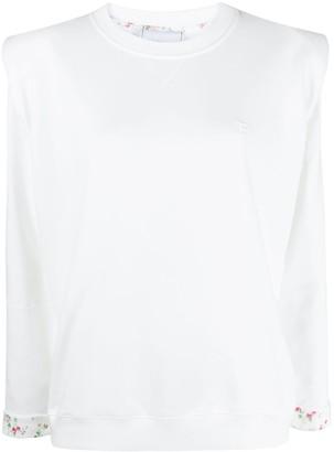 Philosophy di Lorenzo Serafini Shoulder Pad Cotton Sweatshirt
