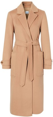 Burberry Sherringham Cashmere Belted Wrap Coat