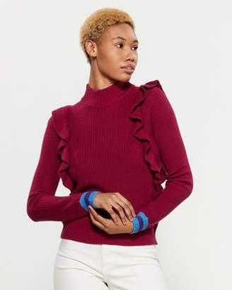 Margherita Splendid X Amico Long Sleeve Mock Neck Sweater