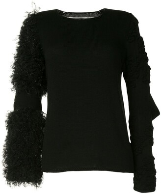 Comme des Garcons Cut-Out Elbow Jumper