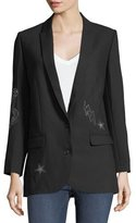 Zadig & Voltaire Viva Bis Two-Button Embellished Blazer