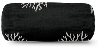 Majestic Home Goods Bolster Pillow Majestic Home Goods Color: Black