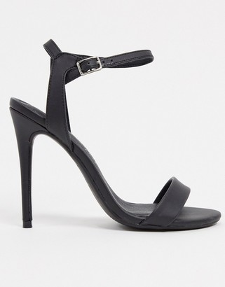 New Look pu stiletto in black