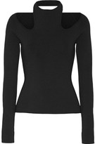 Dion Lee Cutout Stretch-knit Top - Black