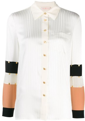Tory Burch studded patchwork shirt