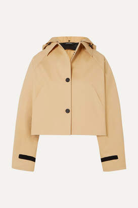 BEIGE Kassl Editions - Cropped Cotton-blend Shell Jacket