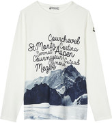 Moncler Mountain print long-sleeved top 4-14 years