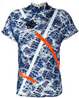 Christopher Kane tape detail printed T-shirt