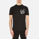 Mcq Alexander Mcqueen Short Sleeve Crew Neck Swallow Tshirt - Black