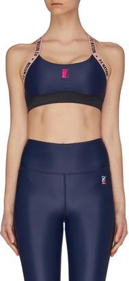 P.E Nation 'Flex It' colourblocked performance sports bra