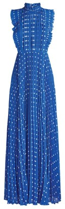 Self-Portrait Polka-Dot Maxi Dress