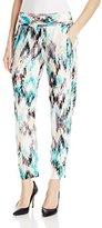 Ella Moss Women's Zia Ikat Print Jersey Relaxed Pant