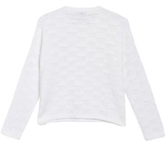 Eileen Fisher Pointelle Dolman Sleeve Sweater (Petite)