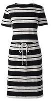 Classic Women's Plus Size Tie Front Dress-Stone