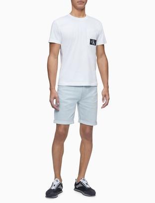 Calvin Klein Straight Fit Light Wash Denim Shorts