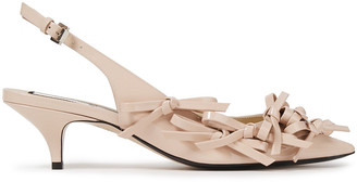 N°21 N21 Bow-detailed Patent-leather Slingback Pumps