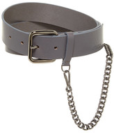 HUGO BOSS Gip Leather & Chain Belt