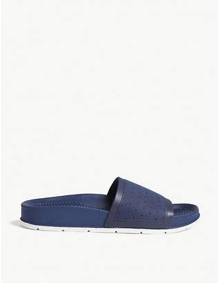 Aldo Scollon perforated rubber sliders