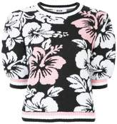 MSGM floral knitted top
