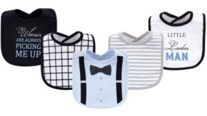 Little Treasure Cotton Drooler Bibs, 5 Pack