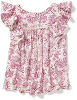 Old Navy Relaxed Ruffle-Trim Top for Girls