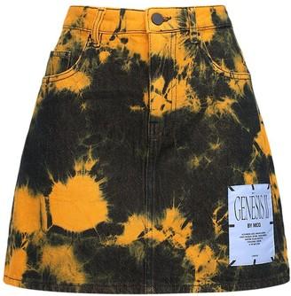 McQ Genesis Ii Tie Dyed Cotton Mini Skirt
