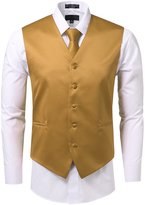 ÊJD Apparel For Men 3 Pieces Tie Solid Formal Tuxedo Vest Tie