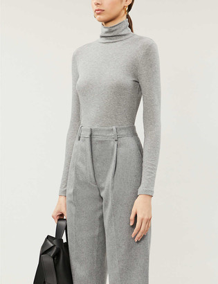 Whistles Essential cotton-blend turtleneck top