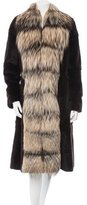 Giuliana Teso Sheared Mink & Fox Fur Coat