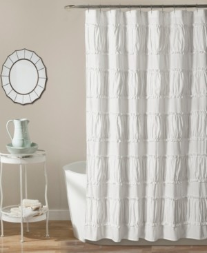 "Lush Decor Nova Ruffle 72"" x 72"" Shower Curtain Bedding"