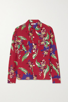 RE/DONE Floral-print Poplin Shirt - Red